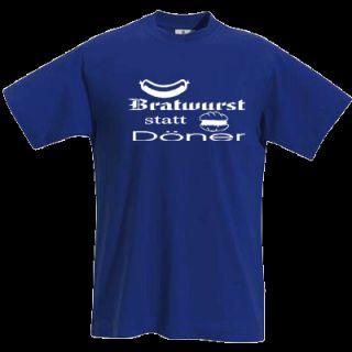 BRATWURST STATT DÖNER Kult T Shirt Gr. S XXL 802