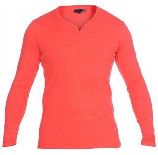 SOLID Philip Granddad Lonsleeve Langarm Shirt rot Gr.S *NEU&OVP