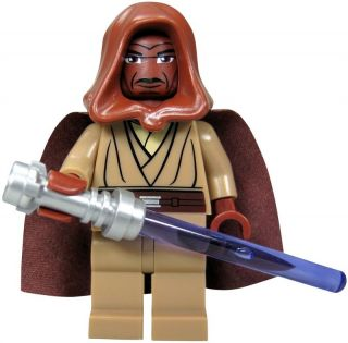 LEGO Star Wars Figur Jedi Mace Windu mit Umhang, Kappe und