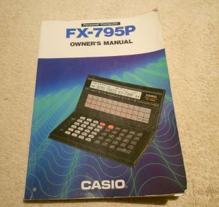 Vintage Casio FX 795P Calculator Manual