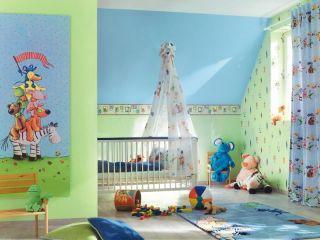 Tapete Kinderzimmer Die lieben Sieben gelb Rasch Villa Coppenrath