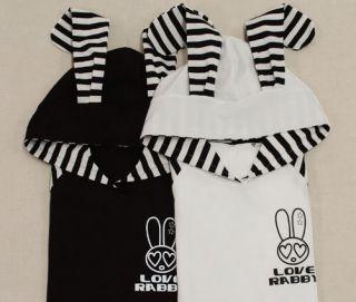 New Ladies Japanese Cosplay Emo Cute Japanese Bunny Rabbit Ear Shirt
