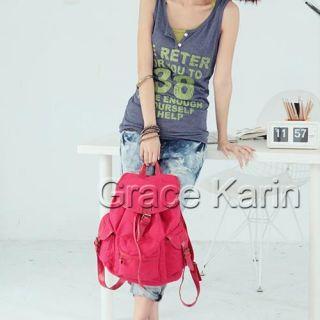 NEU Damen Canvas Schultertaschen Backpack Bag Purse Bookbags Mode
