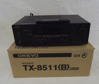 Onkyo TX 8511 2 Channel 100 Watt Receiver Power Amp With Remote & Box