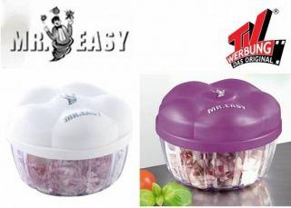 Mr. Easy Gemüse und Zwiebelschneider Zerkleinerer TV Das Original NEU