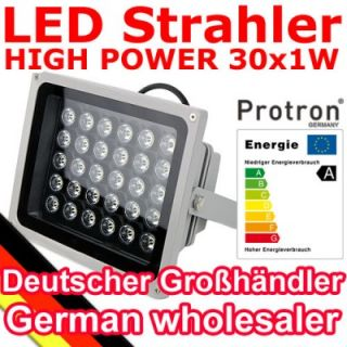 Protron High Power LED Fluter 6 10 12 20 30 36 Watt Strahler mit