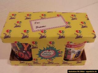 Kaffeetasse / Geburtstagstasse/ Happy Birthday/ 2 Tassen Neu OVP