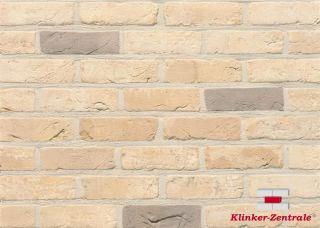 Retro Klinker WDF, Vormauer Verblender gelb beige bunt