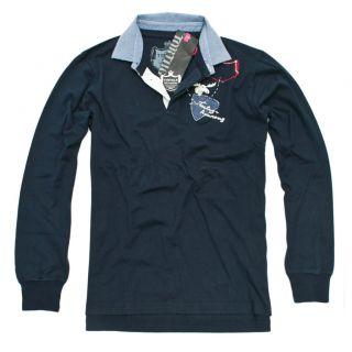 Neu Tortuga Polo Langarm Jersey MAN 813 Navy Blue Gr.M