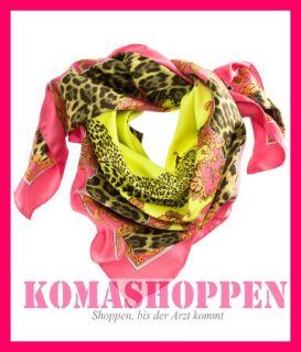 Tuch Schal Lost in L.A. LA Orange Pink Gelb Leo Leopard Boho