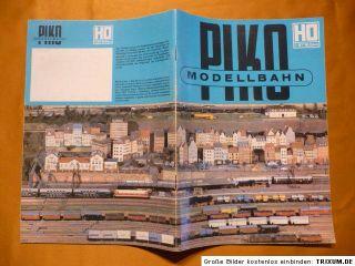 Katalog PIKO Modellbahn um 1979, DDR mit Preisliste