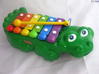Xylophon Krokodil Fisher Price Kling Klang Musik
