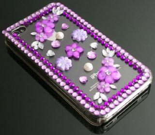 iPhone 4 4G Hülle Hart Cover Tasche Schale Straß Bling