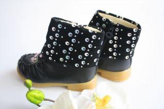 Kinderschuhe neu Stiefeletten schwarze Schuhe Kinder Stiefel Mädchen