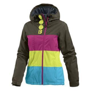 Bench Damen Skijacke Winterjacke Becky Block Braun Pink Gelb Türkis