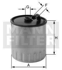MANN Filter Kraftstoff Filter Dieselfilter WK 822/1