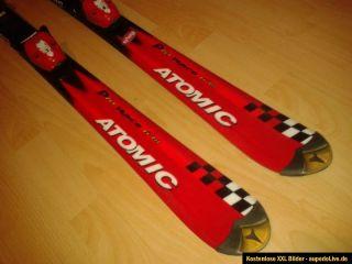 Atomic Pro Race 6,18 Carving Ski mit Bindung 120cm rot Kinderski Race