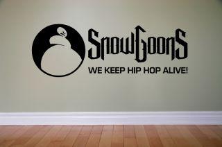 Wandtattoo Aufkleber Musik music Hip Hop SNOWGOONS WE KEEP HIPHOP