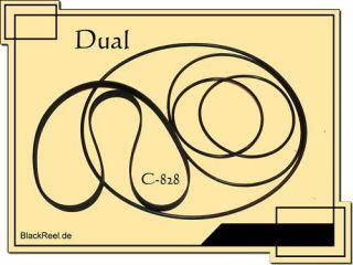 Dual C 828 Riemen rubber belts Cassette Tape Deck