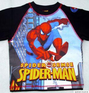 NEU Spiderman Langarmshi rt Shirt Longsleeve schwarz Baumwolle 98