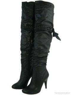 High Heels Overknee Stiefel Domina Gogo Gothic Überknie Schaftstiefel