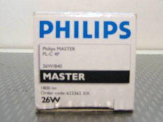 Philips Master PL C 4 P26 W/ 840 Order Code 623362
