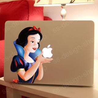 Snow White MacBook Decal Sticker Skin for Apple Macbook Pro Air 11 13