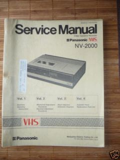 Service Manual Panasonic NV 2000 Video Recorder,ORIGIN