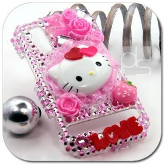 Hello Kitty 3D Bling Crystal Hard Skin Case For Sprint Motorola Photon