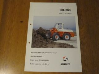 Prospek Schaeff SKL 863 Wheel Loader