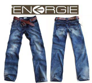 Energie Vogue Mens Washed Dark Blue Jeans size W30 / W32 / W34 L32