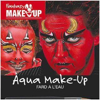 Fantasy Aqua Make Up Teufel + Anleitung ~Karneval~NEU