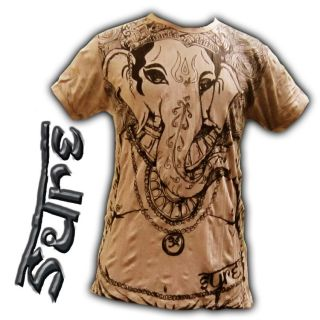 GANESH T SHIRT SURE MOON FLOWER INDIA SHIVA LOTUS LOVE