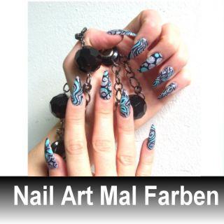 880 b .Nail Art Acryl Malfarben 12 Farben .
