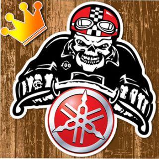 YAMAHA Skull Cafe Racer Motorrad AUFKLEBER Ghost Rider Motorcycle