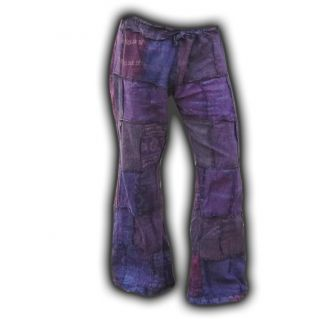 PATCHWORK HOSE AUM OM GOA ALTERNATIV HIPPIE GYPSY TRIBE