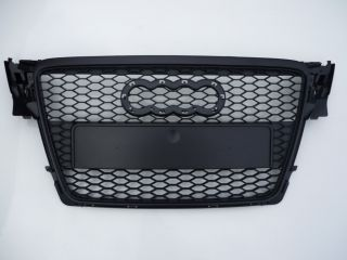 Audi A4 B8 8K 2008 12 honeycomb mesh black sports grill grille (RS S4