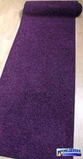 günstiger Shag Teppich Läufer *Bea Slim 879 purple 70cm