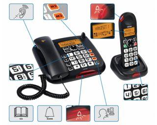 TopCom Sologic B901 COMBO GROßTASTEN TELEFON KURZWAHLTAST ECO MODE