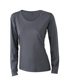 James & Nicholson Damen Longsleeve Shirt T Shirt Langarm Medium