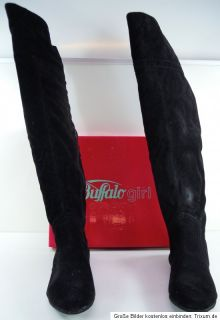 Buffalo Girl 237290 JS SUEDE 110359 Damen Overknees Winter Stiefel Gr