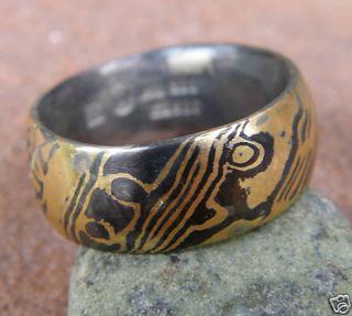 Trauringe Ringe Mokume Gane Gold 900 Palladium Unikat