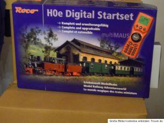 Roco 31021 HOe Digital Startset mit Dampflok HF 110 C Personenzug wie