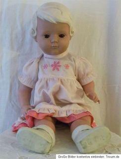 Alte Puppe Celluloid Schildkröt bespielter Zustand braune Schlafaugen
