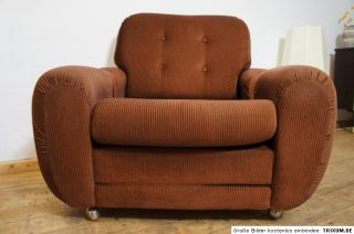 70er Jahre Cord Lounge Sessel Arm Chair Loungesessel Panton Ära