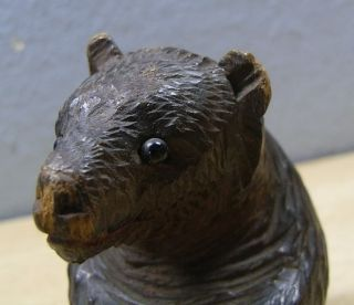 Vintage Wood Carved Bear #BE5