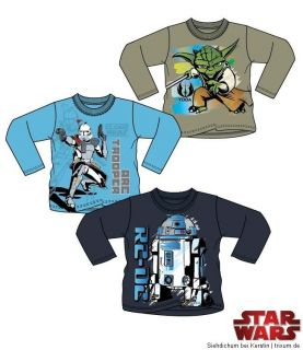 Star Wars Shirt Sweatshirt langarm Gr. 104/110/116/128/140 NEU