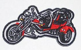 899A Aufnäher Patch Biker Motorrad Chopper TRIKE