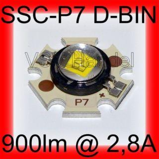 Seoul SSC P7 D BIN + Star High Power 10W 900 lumen LED