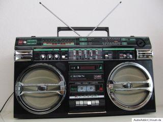 Crown SZ 5100SL Ghettoblaster Boombox Radiorecorder CSC 980Top Zustand
